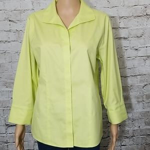 ♦️chico's button top no iron size 1
